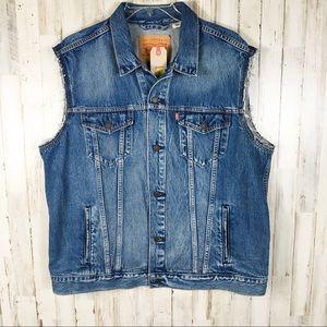 Levi's Trucker Vest Blue Jean Jacket Vest Jayden